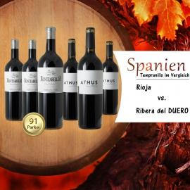 Weinvergleichspaket Rioja vs. Ribera del Duero
